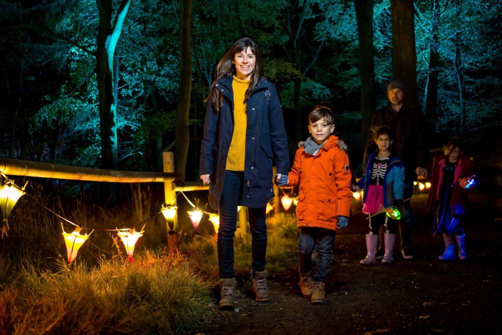 The Glorious Glowing Lantern Parade at BeWILDerwood Norfolk